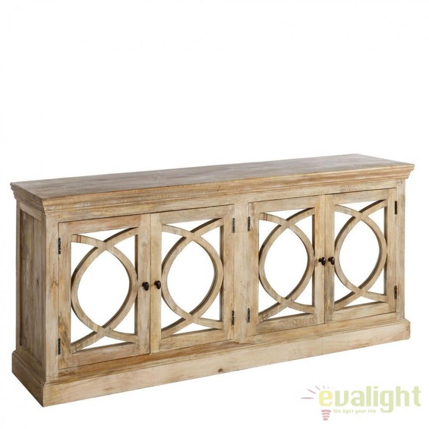 Comoda eleganta design rustic din lemn de mango Vilna DZ-94478, Dulapuri - Comode, Corpuri de iluminat, lustre, aplice, veioze, lampadare, plafoniere. Mobilier si decoratiuni, oglinzi, scaune, fotolii. Oferte speciale iluminat interior si exterior. Livram in toata tara.  a