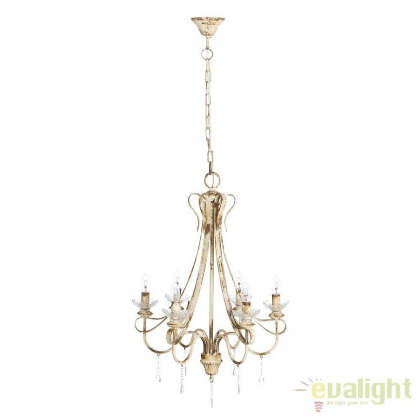 Candelabru design rustic antichizat Shyam DZ- 80237, ILUMINAT INTERIOR RUSTIC, Corpuri de iluminat, lustre, aplice, veioze, lampadare, plafoniere. Mobilier si decoratiuni, oglinzi, scaune, fotolii. Oferte speciale iluminat interior si exterior. Livram in toata tara.  a