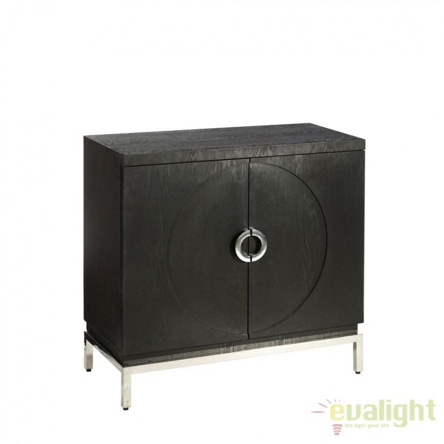 Comoda eleganta Deanne negru DZ-101954, Dulapuri - Comode, Corpuri de iluminat, lustre, aplice, veioze, lampadare, plafoniere. Mobilier si decoratiuni, oglinzi, scaune, fotolii. Oferte speciale iluminat interior si exterior. Livram in toata tara.  a