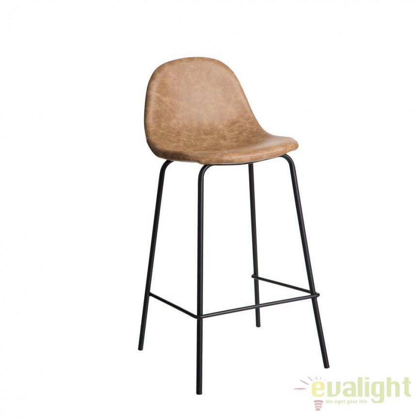 Set 2 scaune de bar design vintage Aundrea bej SX-92780, Scaune de bar, Corpuri de iluminat, lustre, aplice, veioze, lampadare, plafoniere. Mobilier si decoratiuni, oglinzi, scaune, fotolii. Oferte speciale iluminat interior si exterior. Livram in toata tara.  a