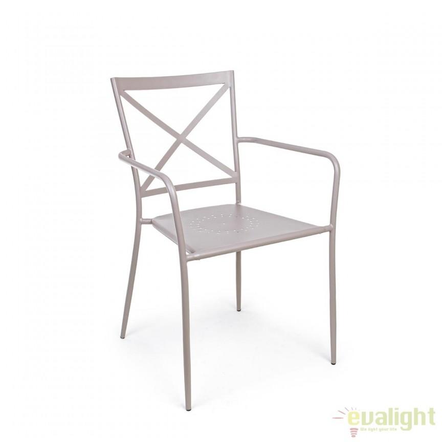 Set de 2 scaune pentru interior sau exterior, Ava gri deschis 0802165 BZ, Outlet ➜ Discount⭐ Oferte ✅Corpuri de iluminat ✅Lustre ✅Mobila ✅Decoratiuni de interior si exterior.⭕Pret redus online➜Lichidari de stoc❗ Magazin ➽ www.evalight.ro. a