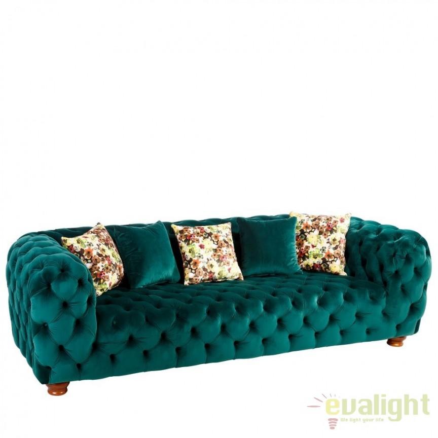 Canapea 3 locuri capitonata, eleganta si confortabia Berna verde DZ-102008, PROMOTII, Corpuri de iluminat, lustre, aplice, veioze, lampadare, plafoniere. Mobilier si decoratiuni, oglinzi, scaune, fotolii. Oferte speciale iluminat interior si exterior. Livram in toata tara.  a