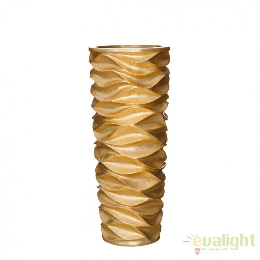 Vaza, Vas decorativ auriu din polirasina, inaltime 88cm ORO SX-102584, PROMOTII,  a