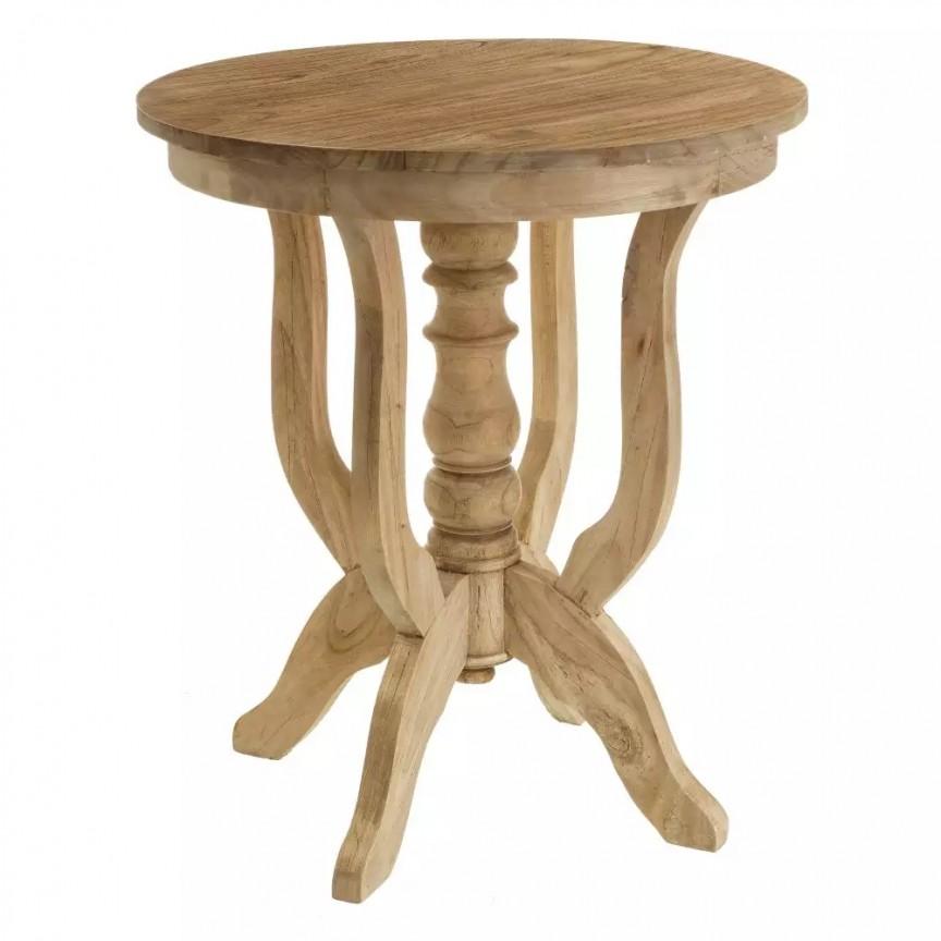 Masa auxiliara design rustic din lemn de mindi, Fagan 60cm SX-101435, Mese dining, Corpuri de iluminat, lustre, aplice, veioze, lampadare, plafoniere. Mobilier si decoratiuni, oglinzi, scaune, fotolii. Oferte speciale iluminat interior si exterior. Livram in toata tara.  a
