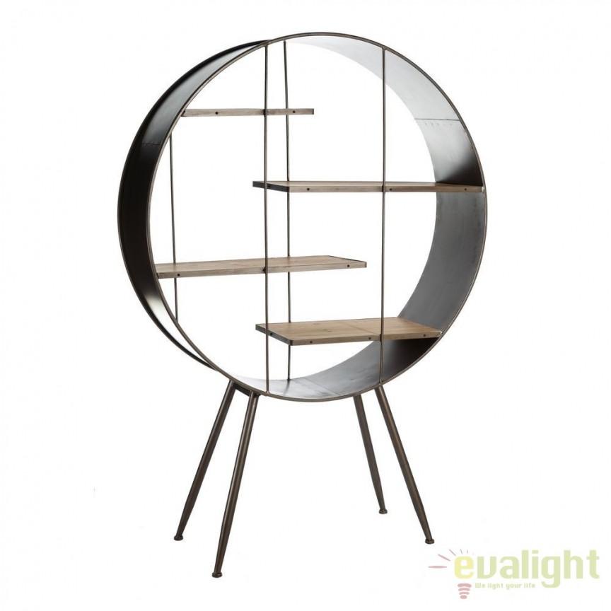 Raft design industrial din fier si lemn de brad, Kane SX-101873, Vitrine - Rafturi, Corpuri de iluminat, lustre, aplice, veioze, lampadare, plafoniere. Mobilier si decoratiuni, oglinzi, scaune, fotolii. Oferte speciale iluminat interior si exterior. Livram in toata tara.  a