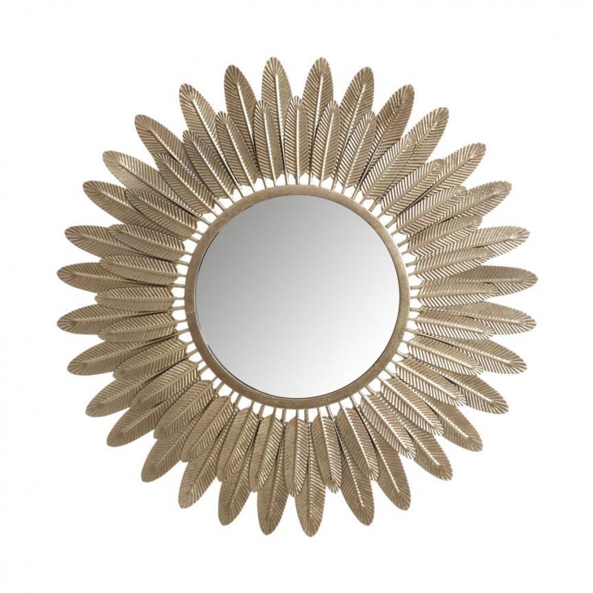 Oglinda metalica decorativa ORO 71cm SX-102220, Oglinzi decorative, Corpuri de iluminat, lustre, aplice, veioze, lampadare, plafoniere. Mobilier si decoratiuni, oglinzi, scaune, fotolii. Oferte speciale iluminat interior si exterior. Livram in toata tara.  a