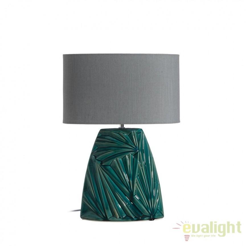 Veioza eleganta din ceramica verde Katelin 49cm DZ-102515, CORPURI DE ILUMINAT INTERIOR MODERN, Corpuri de iluminat, lustre, aplice, veioze, lampadare, plafoniere. Mobilier si decoratiuni, oglinzi, scaune, fotolii. Oferte speciale iluminat interior si exterior. Livram in toata tara.  a