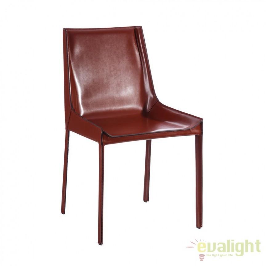Set de 2 scaune design vintage Slavko I maroniu DZ- 101392, Seturi scaune dining, scaune HoReCa, Corpuri de iluminat, lustre, aplice, veioze, lampadare, plafoniere. Mobilier si decoratiuni, oglinzi, scaune, fotolii. Oferte speciale iluminat interior si exterior. Livram in toata tara.  a