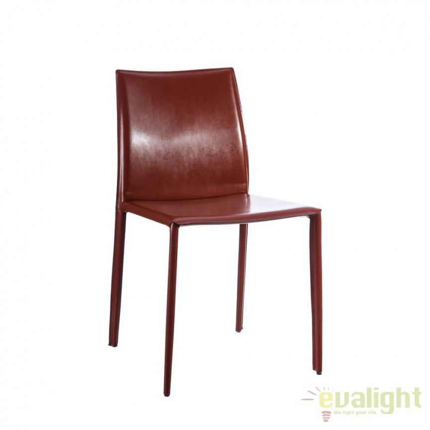 Set de 2 scaune design vintage Slavko II maroniu DZ-101390, Seturi scaune dining, scaune HoReCa, Corpuri de iluminat, lustre, aplice, veioze, lampadare, plafoniere. Mobilier si decoratiuni, oglinzi, scaune, fotolii. Oferte speciale iluminat interior si exterior. Livram in toata tara.  a