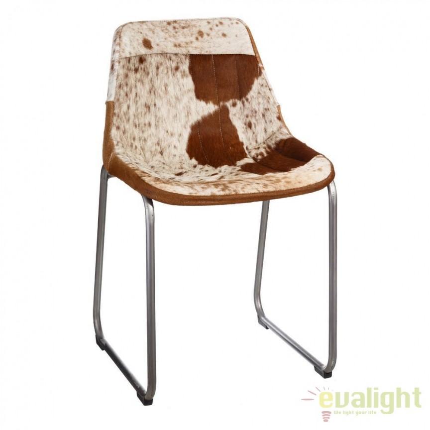 Scaun design vintage piele naturala Lary DZ-94949, MOBILA SI DECORATIUNI , Corpuri de iluminat, lustre, aplice, veioze, lampadare, plafoniere. Mobilier si decoratiuni, oglinzi, scaune, fotolii. Oferte speciale iluminat interior si exterior. Livram in toata tara.  a