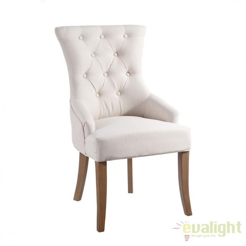Set de 2 scaune elegante, tapitate Antione bej DZ-101286, Seturi scaune dining, scaune HoReCa, Corpuri de iluminat, lustre, aplice, veioze, lampadare, plafoniere. Mobilier si decoratiuni, oglinzi, scaune, fotolii. Oferte speciale iluminat interior si exterior. Livram in toata tara.  a