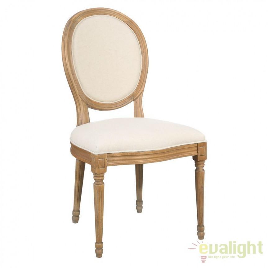 Set de 2 scaune elegante cu spatar in forma de medalion Arnulfo I crem DZ-90893, Seturi scaune dining, scaune HoReCa, Corpuri de iluminat, lustre, aplice, veioze, lampadare, plafoniere. Mobilier si decoratiuni, oglinzi, scaune, fotolii. Oferte speciale iluminat interior si exterior. Livram in toata tara.  a