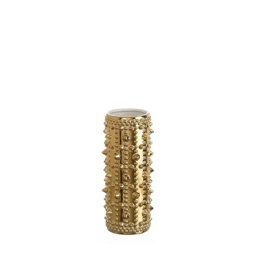 Vaza din ceramica Alma auriu 32cm DZ-102736, Vaze, Ghivece decorative, Corpuri de iluminat, lustre, aplice, veioze, lampadare, plafoniere. Mobilier si decoratiuni, oglinzi, scaune, fotolii. Oferte speciale iluminat interior si exterior. Livram in toata tara.  a