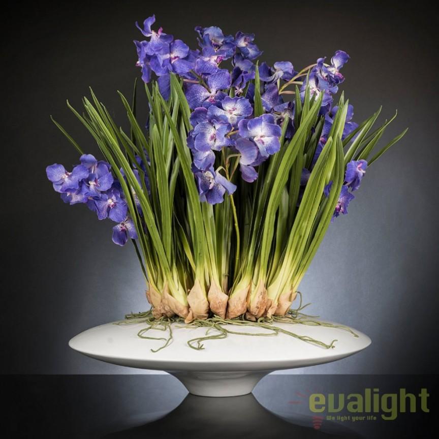 Aranjament floral LUX CYMBIDIUM violet, 80x95cm, Aranjamente florale LUX, Corpuri de iluminat, lustre, aplice, veioze, lampadare, plafoniere. Mobilier si decoratiuni, oglinzi, scaune, fotolii. Oferte speciale iluminat interior si exterior. Livram in toata tara.  a
