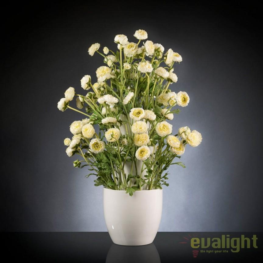 Aranjament floral, decor festiv design LUX, BABILON RANUNCOLO BIG 95cm, alb, Aranjamente florale LUX, Corpuri de iluminat, lustre, aplice, veioze, lampadare, plafoniere. Mobilier si decoratiuni, oglinzi, scaune, fotolii. Oferte speciale iluminat interior si exterior. Livram in toata tara.  a