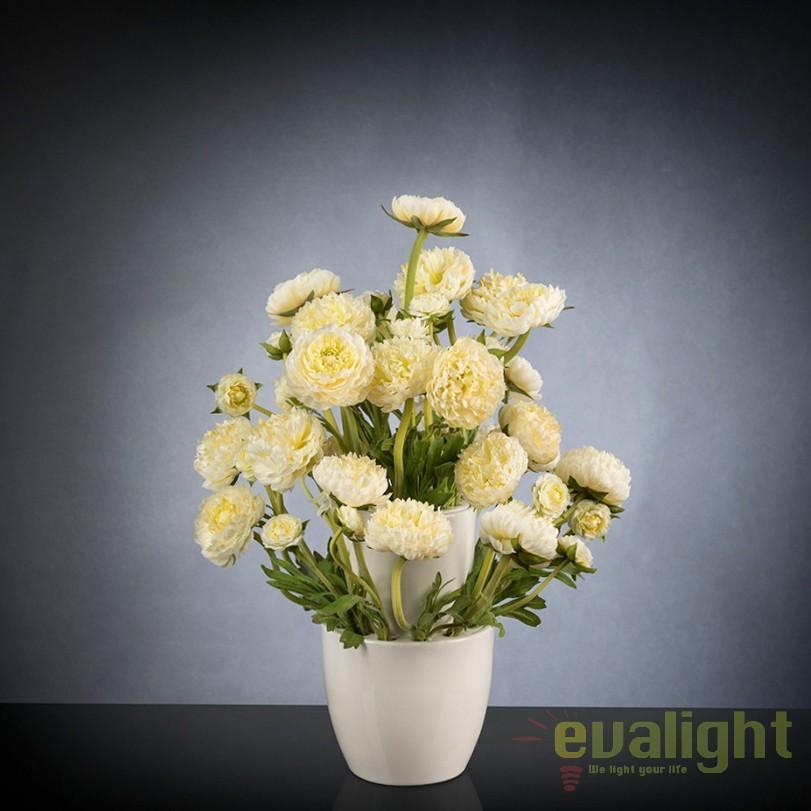Aranjament floral, decor festiv design LUX, BABILON RANUNCOLO Small 50cm, alb, Aranjamente florale LUX, Corpuri de iluminat, lustre, aplice, veioze, lampadare, plafoniere. Mobilier si decoratiuni, oglinzi, scaune, fotolii. Oferte speciale iluminat interior si exterior. Livram in toata tara.  a