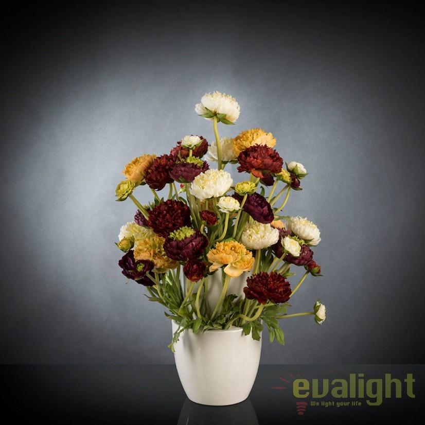 Aranjament floral, decor festiv design LUX, BABILON RANUNCOLO Small 50cm, multicolor, Corpuri de iluminat, lustre, aplice, veioze, lampadare, plafoniere. Mobilier si decoratiuni, oglinzi, scaune, fotolii. Oferte speciale iluminat interior si exterior. Livram in toata tara.