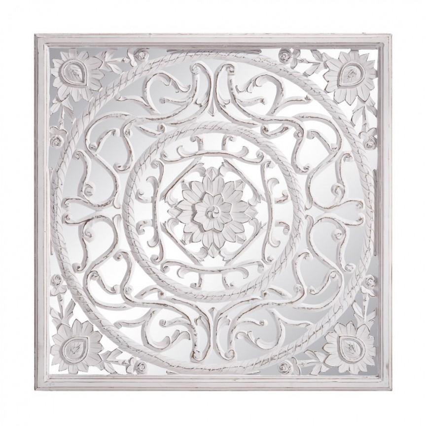 Decoratiune perete cu oglinda Ashton 120x120cm SX-120034, Oglinzi decorative, Corpuri de iluminat, lustre, aplice, veioze, lampadare, plafoniere. Mobilier si decoratiuni, oglinzi, scaune, fotolii. Oferte speciale iluminat interior si exterior. Livram in toata tara.  a