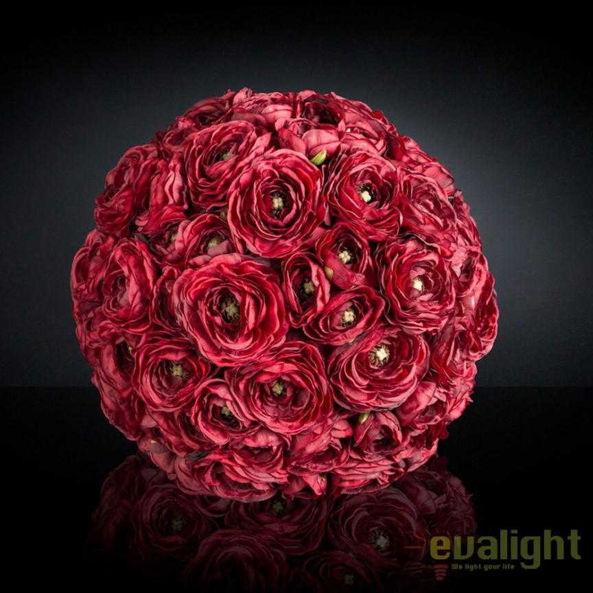Aranjament floral elegant in forma de sfera, SPHERE RANUNCOLO MIX 35cm, Aranjamente florale LUX, Corpuri de iluminat, lustre, aplice, veioze, lampadare, plafoniere. Mobilier si decoratiuni, oglinzi, scaune, fotolii. Oferte speciale iluminat interior si exterior. Livram in toata tara.  a
