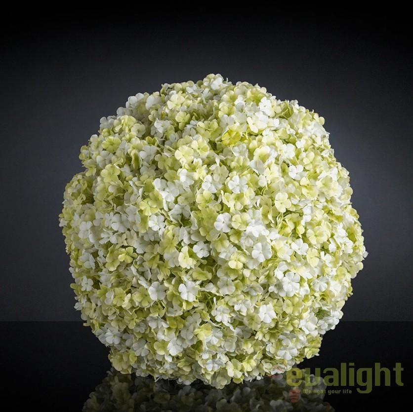 Aranjament floral elegant in forma de sfera, SPHERE SNOWBALL 30cm, Aranjamente florale LUX, Corpuri de iluminat, lustre, aplice, veioze, lampadare, plafoniere. Mobilier si decoratiuni, oglinzi, scaune, fotolii. Oferte speciale iluminat interior si exterior. Livram in toata tara.  a