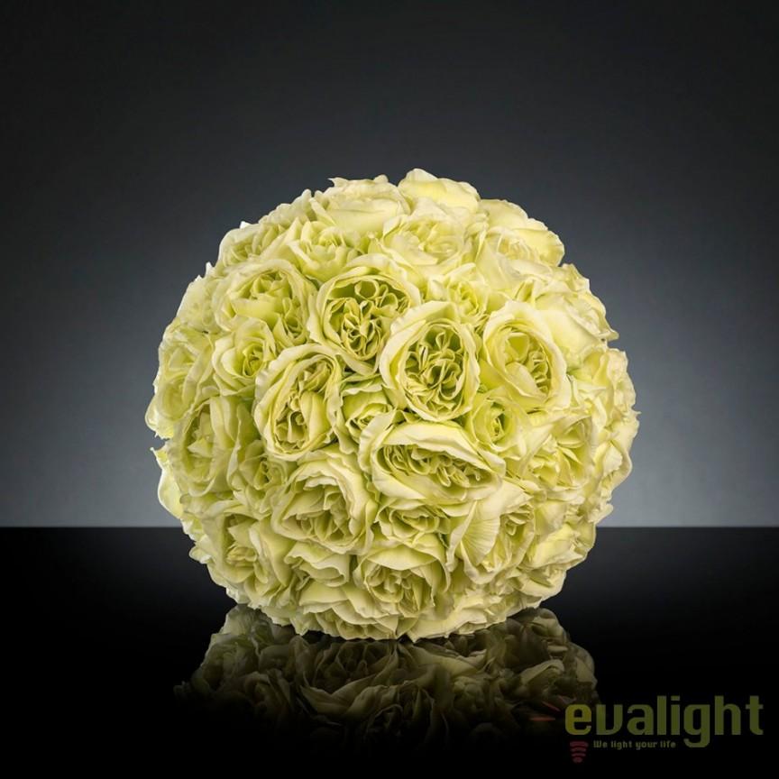 Aranjament floral elegant in forma de sfera, MIXROSE FORTUNE 45cm, Aranjamente florale LUX, Corpuri de iluminat, lustre, aplice, veioze, lampadare, plafoniere. Mobilier si decoratiuni, oglinzi, scaune, fotolii. Oferte speciale iluminat interior si exterior. Livram in toata tara.  a