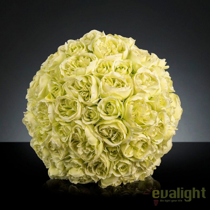 Aranjament floral elegant in forma de sfera, MIXROSE FORTUNE 55cm, Aranjamente florale LUX, Corpuri de iluminat, lustre, aplice, veioze, lampadare, plafoniere. Mobilier si decoratiuni, oglinzi, scaune, fotolii. Oferte speciale iluminat interior si exterior. Livram in toata tara.  a