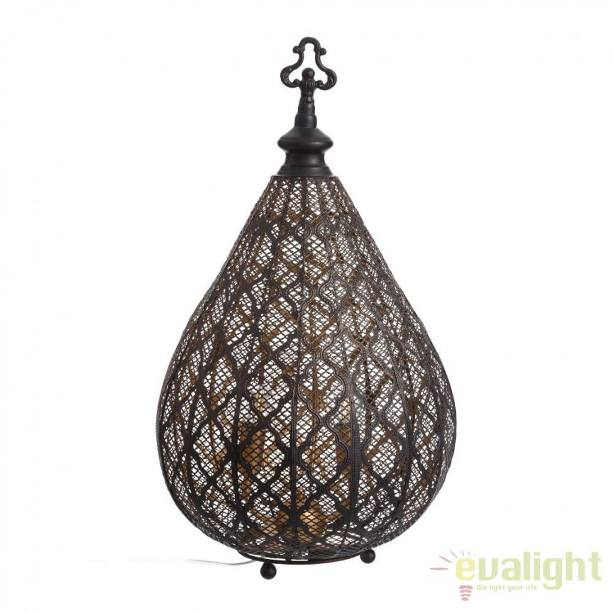 Lampa de masa decorativa design vintage Cyrillus, 60cm SX-100410, ILUMINAT INTERIOR RUSTIC, Corpuri de iluminat, lustre, aplice, veioze, lampadare, plafoniere. Mobilier si decoratiuni, oglinzi, scaune, fotolii. Oferte speciale iluminat interior si exterior. Livram in toata tara.  a
