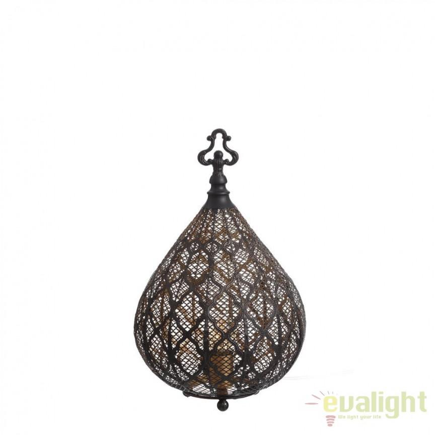 Lampa de masa decorativa design vintage Cyrillus, 45cm SX-100409, ILUMINAT INTERIOR RUSTIC, Corpuri de iluminat, lustre, aplice, veioze, lampadare, plafoniere. Mobilier si decoratiuni, oglinzi, scaune, fotolii. Oferte speciale iluminat interior si exterior. Livram in toata tara.  a