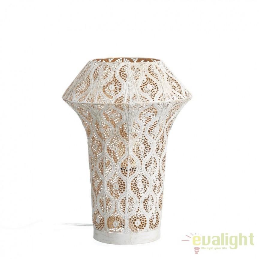 Lampa de masa decorativa design etnic oriental Melody, 41cm SX-100415, ILUMINAT INTERIOR RUSTIC, Corpuri de iluminat, lustre, aplice, veioze, lampadare, plafoniere. Mobilier si decoratiuni, oglinzi, scaune, fotolii. Oferte speciale iluminat interior si exterior. Livram in toata tara.  a