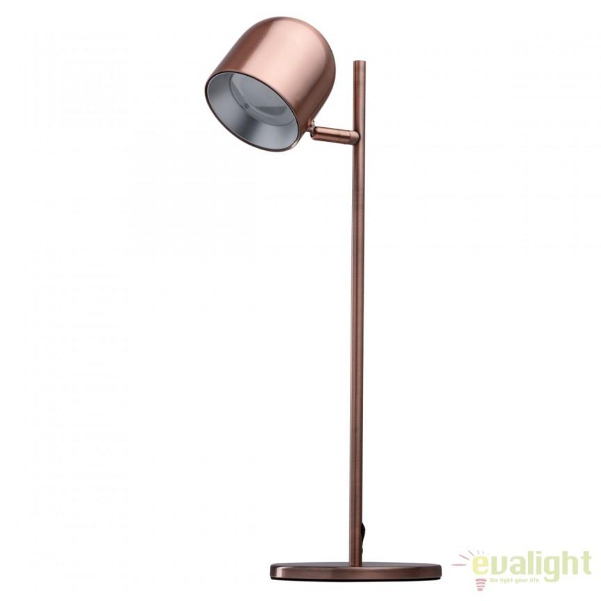 Lampa de masa cu iluminat LED Loft cupru 633030501 MW, Veioze LED, Lampadare LED, Corpuri de iluminat, lustre, aplice, veioze, lampadare, plafoniere. Mobilier si decoratiuni, oglinzi, scaune, fotolii. Oferte speciale iluminat interior si exterior. Livram in toata tara.  a