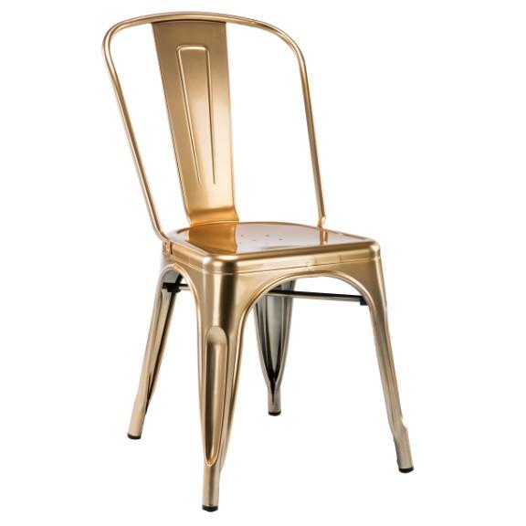 Set de 4 scaune design industrial TOL-G auriu 503.STOLG SDM, Seturi scaune dining, scaune HoReCa, Corpuri de iluminat, lustre, aplice, veioze, lampadare, plafoniere. Mobilier si decoratiuni, oglinzi, scaune, fotolii. Oferte speciale iluminat interior si exterior. Livram in toata tara.  a