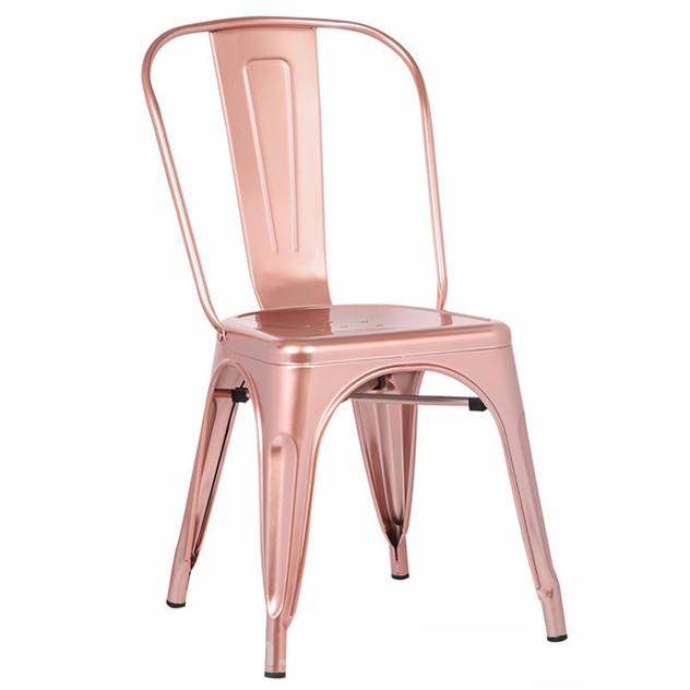 Set de 4 scaune design industrial TOL-RG auriu rosiatic 503.STOLRG SDM, Seturi scaune dining, scaune HoReCa, Corpuri de iluminat, lustre, aplice, veioze, lampadare, plafoniere. Mobilier si decoratiuni, oglinzi, scaune, fotolii. Oferte speciale iluminat interior si exterior. Livram in toata tara.  a