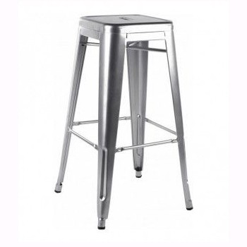 Set 4 scaune de bar design industrial TOL-SI argintiu 403.TTOLSI SDM, Scaune de bar, Corpuri de iluminat, lustre, aplice, veioze, lampadare, plafoniere. Mobilier si decoratiuni, oglinzi, scaune, fotolii. Oferte speciale iluminat interior si exterior. Livram in toata tara.  a