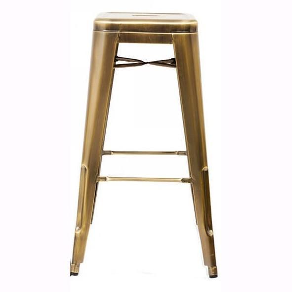 Set 4 scaune de bar design industrial TOL-G auriu 403.TTOLG SDM, Scaune de bar, Corpuri de iluminat, lustre, aplice, veioze, lampadare, plafoniere. Mobilier si decoratiuni, oglinzi, scaune, fotolii. Oferte speciale iluminat interior si exterior. Livram in toata tara.  a