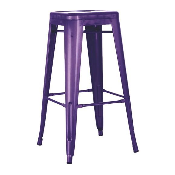 Set 4 scaune de bar design industrial TOL-MA mov 436.TTOLMA SDM, Scaune de bar, Corpuri de iluminat, lustre, aplice, veioze, lampadare, plafoniere. Mobilier si decoratiuni, oglinzi, scaune, fotolii. Oferte speciale iluminat interior si exterior. Livram in toata tara.  a