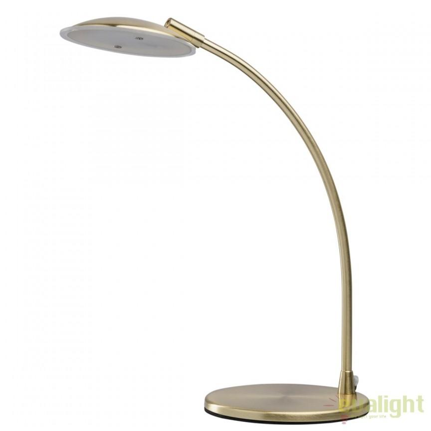 Veioza LED moderna / Lampa de birou Venus aurie 300034501 MW, Veioze LED, Lampadare LED, Corpuri de iluminat, lustre, aplice, veioze, lampadare, plafoniere. Mobilier si decoratiuni, oglinzi, scaune, fotolii. Oferte speciale iluminat interior si exterior. Livram in toata tara.  a