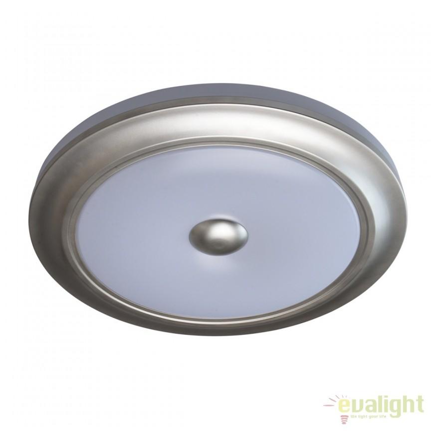 Plafoniera LED cu telecomanda Ezra argintie MW 688010401, Lampi LED si Telecomanda, Corpuri de iluminat, lustre, aplice, veioze, lampadare, plafoniere. Mobilier si decoratiuni, oglinzi, scaune, fotolii. Oferte speciale iluminat interior si exterior. Livram in toata tara.  a