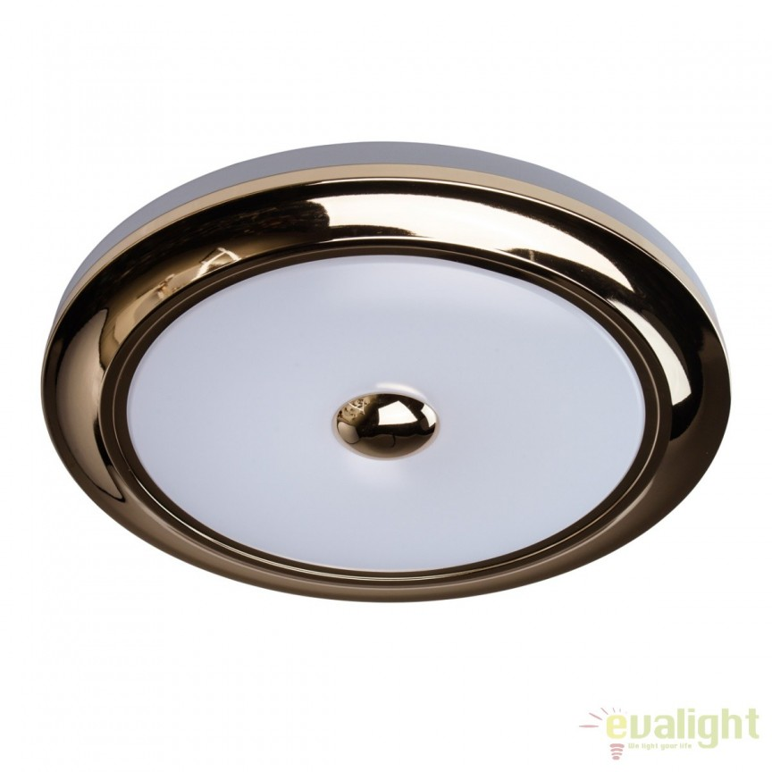 Plafoniera LED cu telecomanda Ezra aurie lucios MW 688010101, Lampi LED si Telecomanda, Corpuri de iluminat, lustre, aplice, veioze, lampadare, plafoniere. Mobilier si decoratiuni, oglinzi, scaune, fotolii. Oferte speciale iluminat interior si exterior. Livram in toata tara.  a