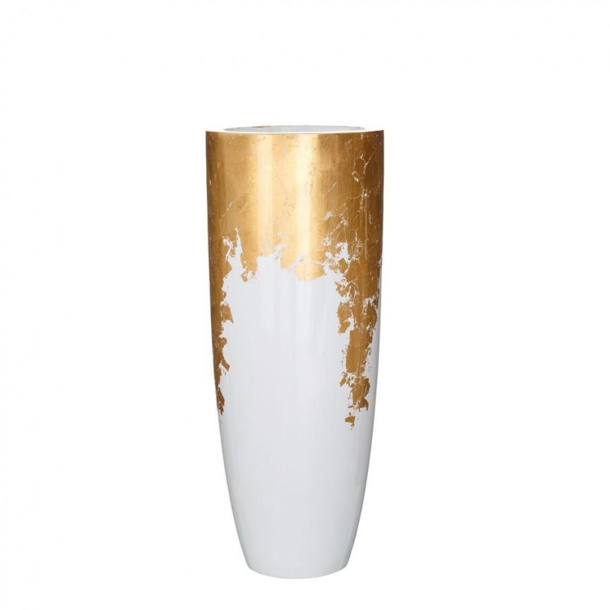 Vaza, Vas decorativ din polirasina, inaltime 91cm Adah, alb /auriu SX-102579 SX-102580, Vaze, Ghivece decorative, Corpuri de iluminat, lustre, aplice, veioze, lampadare, plafoniere. Mobilier si decoratiuni, oglinzi, scaune, fotolii. Oferte speciale iluminat interior si exterior. Livram in toata tara.  a