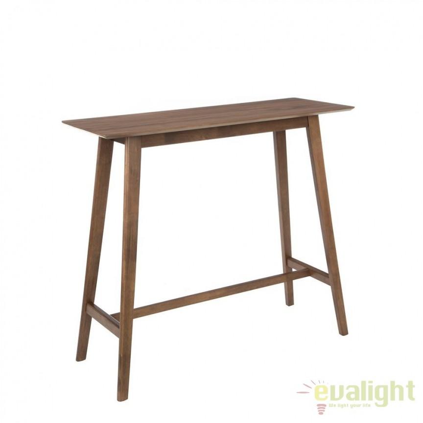 Masa bar design nordic din lemn Beny 120x45cm SX-90574, Scaune de bar, Corpuri de iluminat, lustre, aplice, veioze, lampadare, plafoniere. Mobilier si decoratiuni, oglinzi, scaune, fotolii. Oferte speciale iluminat interior si exterior. Livram in toata tara.  a