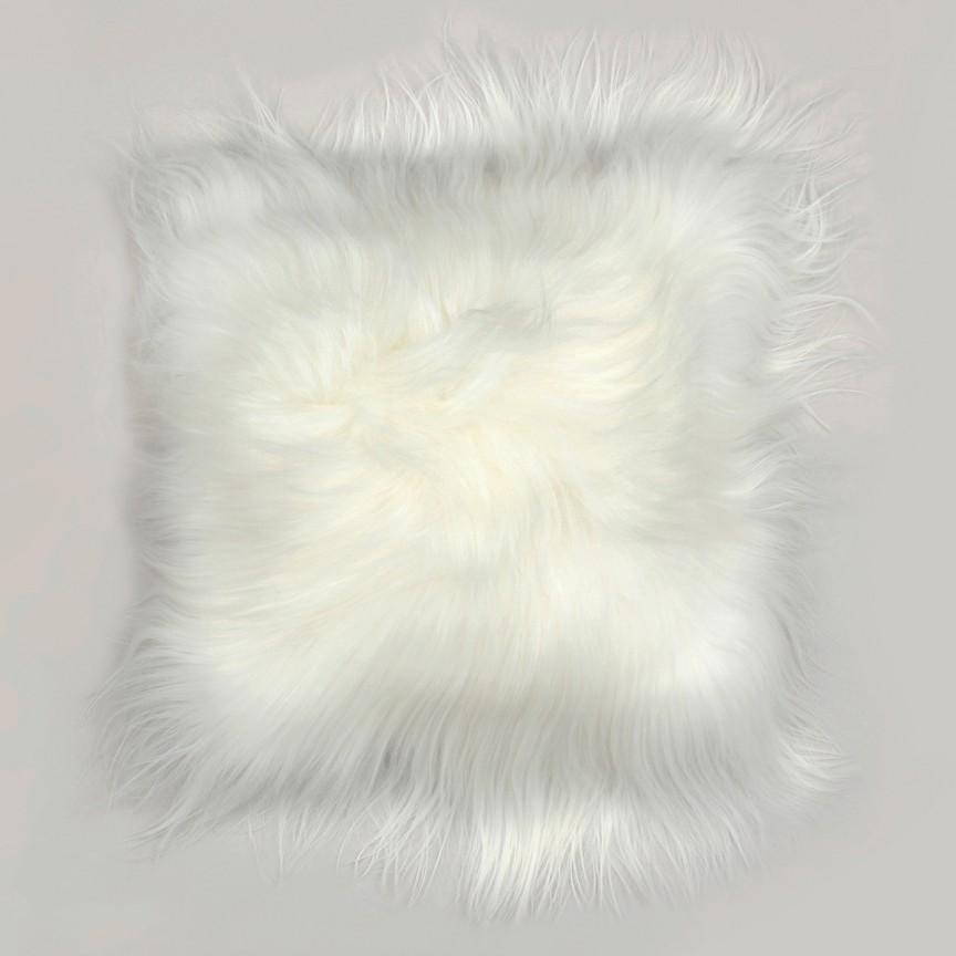 Perna cu piele de oaie LW Iceland 35x35cm Icelandic White CLINWIS35C, Mobila si Decoratiuni,  a