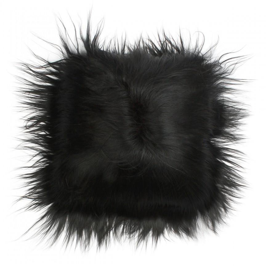 Perna cu piele de oaie LW Iceland 35x35cm Icelandic Black CLINBKS35C, Perne - Fete de perne, Corpuri de iluminat, lustre, aplice, veioze, lampadare, plafoniere. Mobilier si decoratiuni, oglinzi, scaune, fotolii. Oferte speciale iluminat interior si exterior. Livram in toata tara.  a