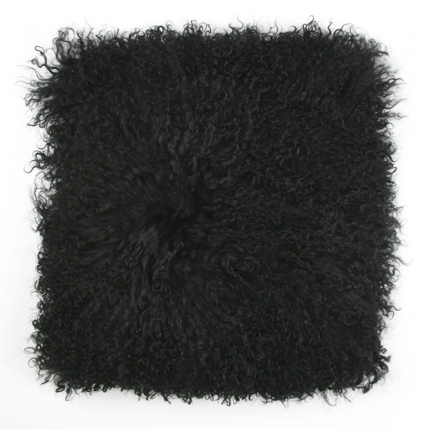 Perna cu piele de oaie LW Tibetan 50x50cm Velvet Black CLTS50V-TBK, Perne - Fete de perne, Corpuri de iluminat, lustre, aplice, veioze, lampadare, plafoniere. Mobilier si decoratiuni, oglinzi, scaune, fotolii. Oferte speciale iluminat interior si exterior. Livram in toata tara.  a