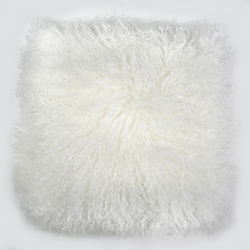 Perna cu piele de oaie LW Tibetan 50x50cm Velvet Ivory CLTS50V-TIY, Perne - Fete de perne, Corpuri de iluminat, lustre, aplice, veioze, lampadare, plafoniere. Mobilier si decoratiuni, oglinzi, scaune, fotolii. Oferte speciale iluminat interior si exterior. Livram in toata tara.  a