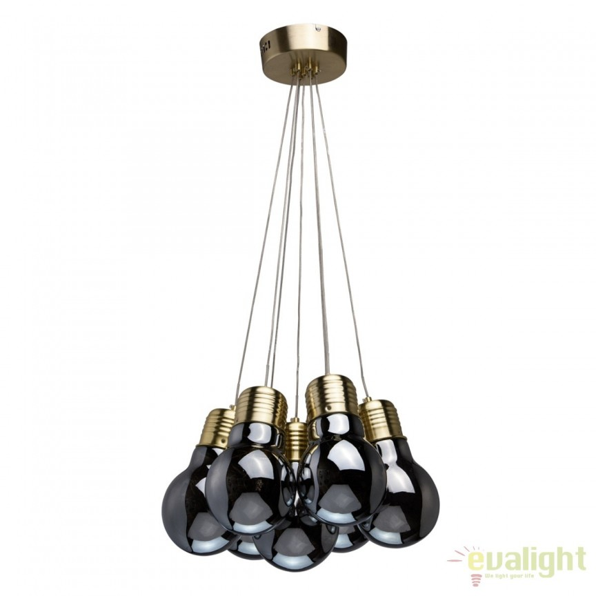 Lustra LED cu telecomanda design modern Bulbs 7L 663011707 MW, Lampi LED si Telecomanda, Corpuri de iluminat, lustre, aplice, veioze, lampadare, plafoniere. Mobilier si decoratiuni, oglinzi, scaune, fotolii. Oferte speciale iluminat interior si exterior. Livram in toata tara.  a