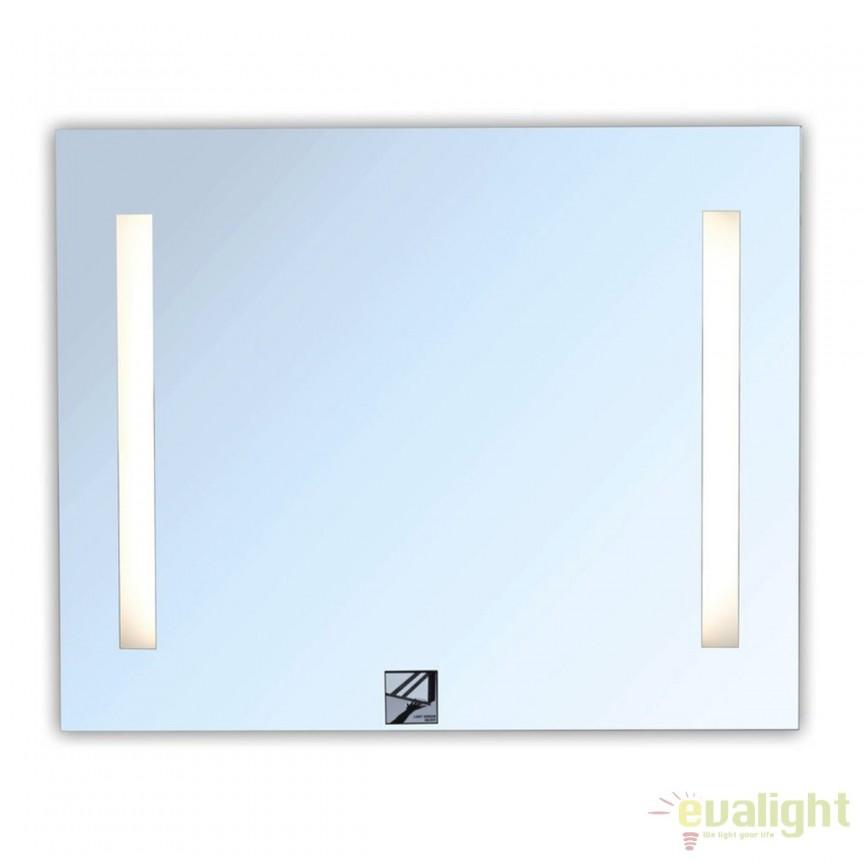 Oglinda cu iluminat LED pentru baie IP44 LINA 80x65cm 27496 HT, Oglinzi pentru baie, Corpuri de iluminat, lustre, aplice, veioze, lampadare, plafoniere. Mobilier si decoratiuni, oglinzi, scaune, fotolii. Oferte speciale iluminat interior si exterior. Livram in toata tara.  a