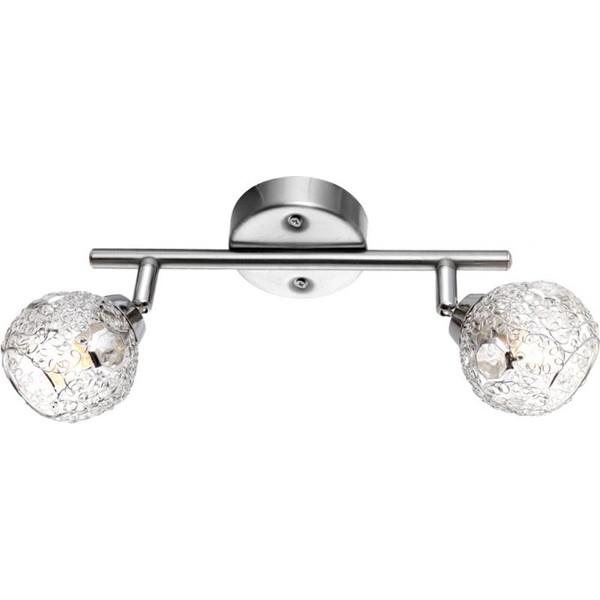 Aplica, Spot cu cristale acrylice Sinclair 5669-2 GL, Spoturi - iluminat - cu 2 spoturi, Corpuri de iluminat, lustre, aplice, veioze, lampadare, plafoniere. Mobilier si decoratiuni, oglinzi, scaune, fotolii. Oferte speciale iluminat interior si exterior. Livram in toata tara.  a