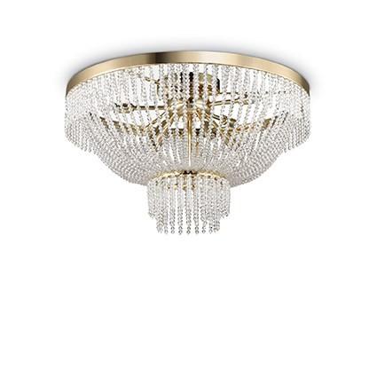 Lustra aplicata cristal Venezian diametru 54cm AUGUSTUS PL10 ORO 113234, Lustre moderne aplicate, Corpuri de iluminat, lustre, aplice, veioze, lampadare, plafoniere. Mobilier si decoratiuni, oglinzi, scaune, fotolii. Oferte speciale iluminat interior si exterior. Livram in toata tara.  a