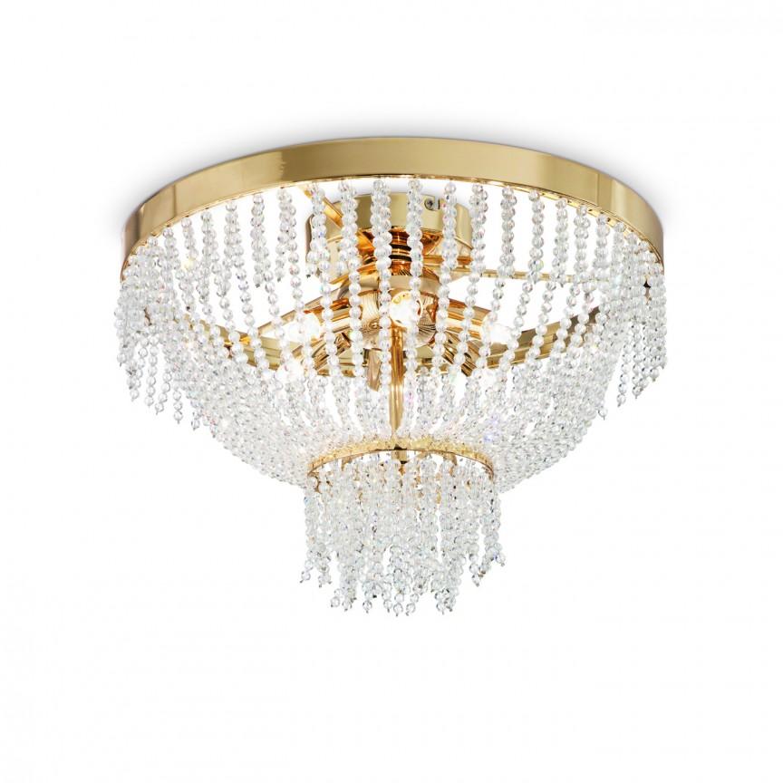 Lustra aplicata cristal Venezian diametru 38cm AUGUSTUS PL6 ORO 113210, Lustre moderne aplicate, Corpuri de iluminat, lustre, aplice, veioze, lampadare, plafoniere. Mobilier si decoratiuni, oglinzi, scaune, fotolii. Oferte speciale iluminat interior si exterior. Livram in toata tara.  a