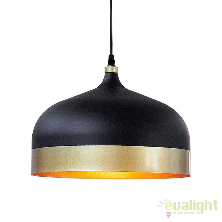 Pendul din metal Modern Chic II negru/ auriu A-37703 VC, PROMOTII, Corpuri de iluminat, lustre, aplice, veioze, lampadare, plafoniere. Mobilier si decoratiuni, oglinzi, scaune, fotolii. Oferte speciale iluminat interior si exterior. Livram in toata tara.  a